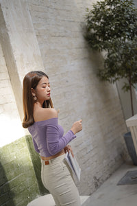COTTON OFF SHOULDER in PURPLE (4428982943819)