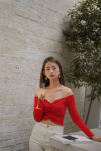 CNY OFF SHOULDER BASIC in RED (4428983500875)