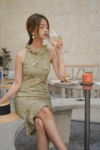 HIGH-NECK FLORAL DRESS (4428988874827)