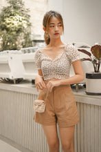 DE HIGH-WAIST LINEN SHORT in BROWN *BACKORDER OPEN