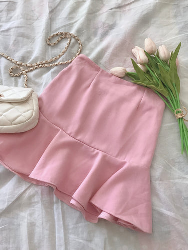 SALLY PINK PEPLUM SKIRT (4409967804491)