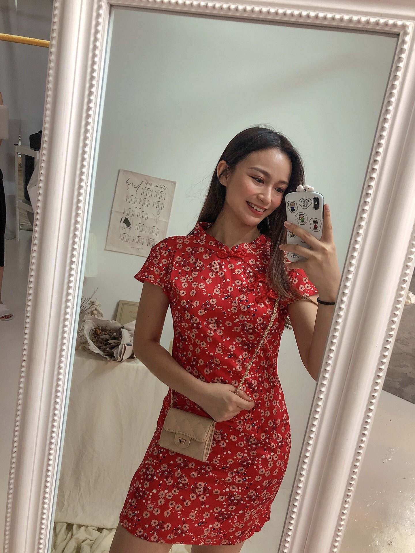 CNY CHEONGSAM DRESS in RED
