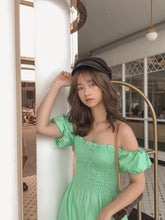RUI SUMMER PUFFY DRESS in green  #UQMADE (4344848842827)