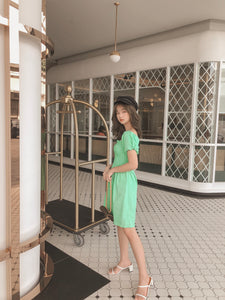 RUI SUMMER PUFFY DRESS in green  #UQMADE