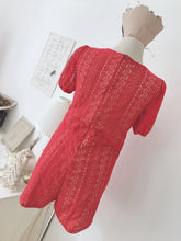 LACE JUMPSUIT in RED