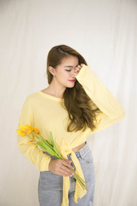 TIE THE KNOT YELLOW TOP