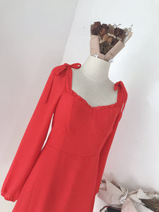 LURVY BOW DRESS in RED (4436040482891)