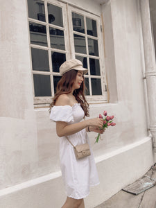 RUI SUMMER PUFFY DRESS in white  #UQMADE