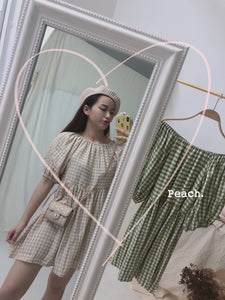 ELF CREAM CHECKERED DRESS (4352684621899)