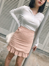 RIN HIGHWAIST SHORT SKIRT BLUSHPINK (1815560028195)