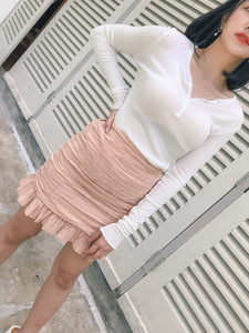 RIN HIGHWAIST SHORT SKIRT BLUSHPINK