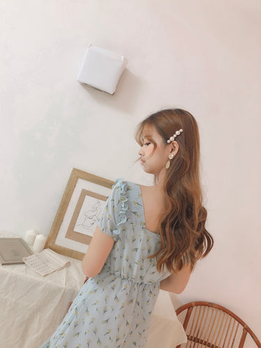 DOSU FLORAL DRESS POWDER BLUE
