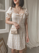 DE AMIA PLAID BEIGE PICNIC DRESS BACKORDERED OPEN ETA 2nd Jan #UQMADE (4382512939083)