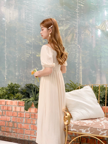 ELY BEIGE BLOUSE DRESS