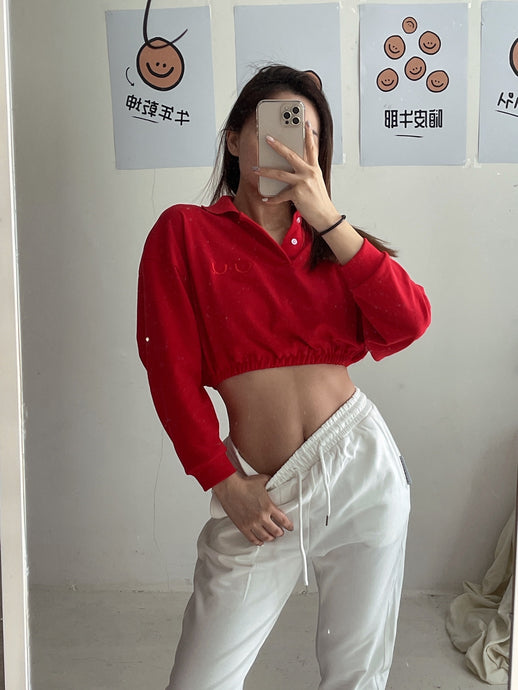 UU GIRLFRIEND POLO WEAR in CNY RED