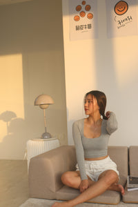 NIE BASIC TOP GREY #UQMADE *BACK IN STOCK*