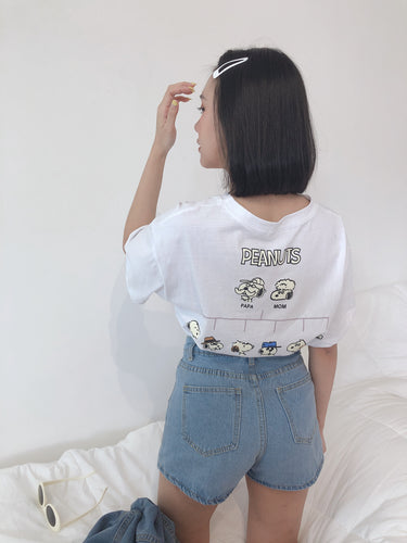 PEANUT CHARLIE BROWN TEE IN WHITE