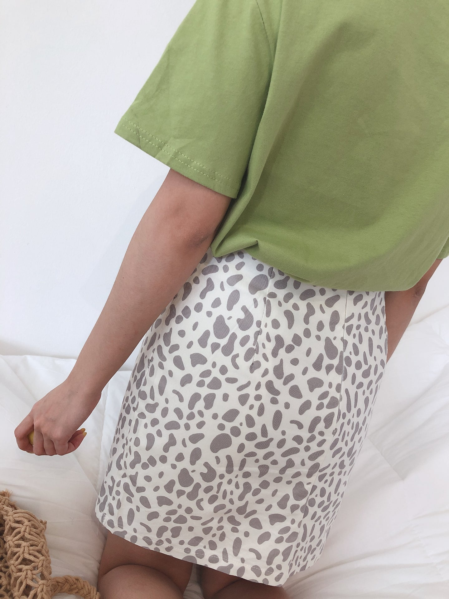LEOPARD PRINT SKIRT IN CREAMYWHITE (1748557201443)