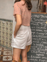 DE HIGH-WAIST LINEN SHORT in WHITE (4421809864779)