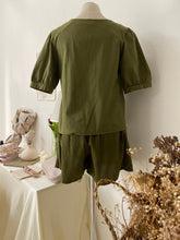 ARMY GREEN TOP + BOTTOM SET