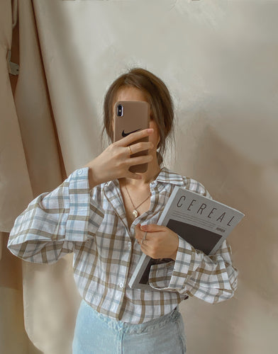 GEINE KOREA SELECT CHECKERED SHIRT