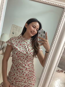 CNY CHEONGSAM DRESS in creamwhite