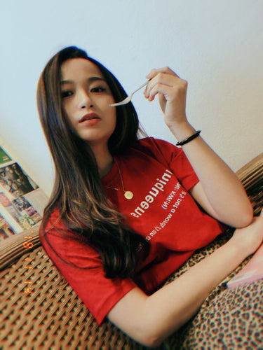 UQMADE MEAN TEE RED (1486874378275)
