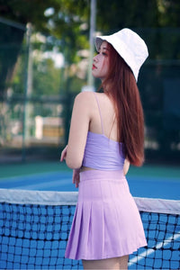 TENNIS PLEATED SKORT-PURPLE