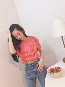PEACHY PINK CHERRY TEE🍒