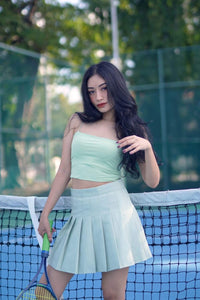 BAE STRING TUBE TOP -MATCHA GREEN