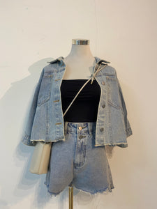 NOAH CROP DENIM OUTER