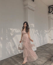 ANJO RUFFLE GOWN in PINK **READY STOCK*