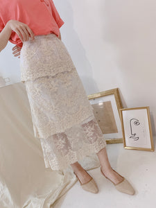 LEA LAYERY LACE SKIRT (1691309211683)