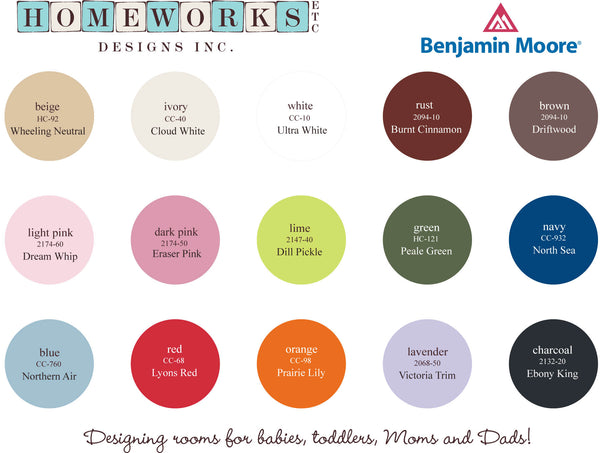 Homeworks Etc proudly used Benjamin Moore Paint