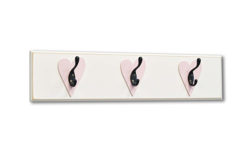 Light Pink Heart 3 Hook Board