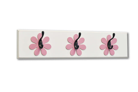 Flower Wall Hook Board (3 hooks) by Homeworks Etc girls room decor