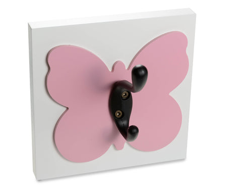 Dark Pink Decorative Butterfly Wall Hook Girls Room Decor