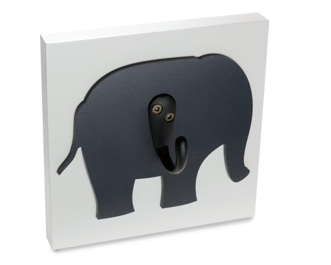 Dark Gray Elephant Decorative Nursery Wall Hook