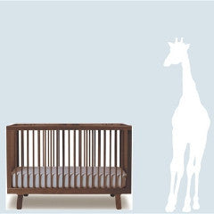 White Baby Giraffe Nursery Wall Decal 6 feet high