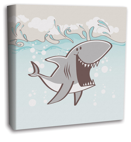 Shark Sea Creature Boys Canvas Wall Art