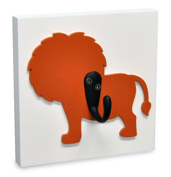 Lion Kids Wall Hook, orange room decor