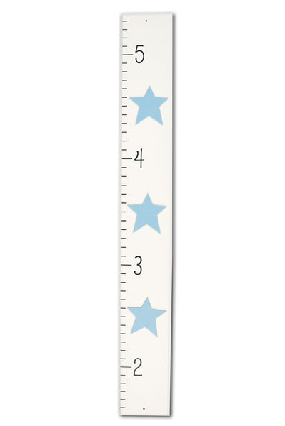 Star Wood Growth Chart, brown or blue kids room decor