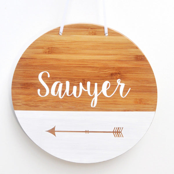 Homeworks Etc Round Name Plaque | Nursery & Kids Decor