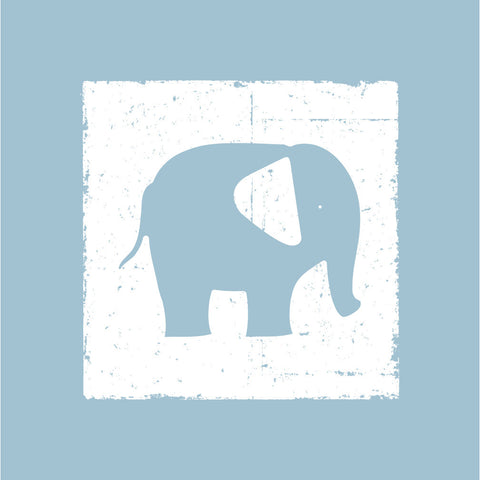 blue elephant nursery canvas wall art