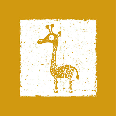 Fun Safari Jungle Giraffe Nursery Wall Art, Canvas Art, Art Print