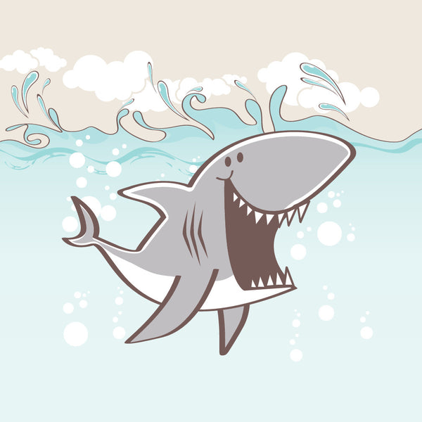 Shark Ocean Themed Kids Canvas Wall Art