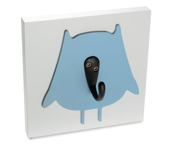 Owl Kids Wall Hook, blue room decor, girls
