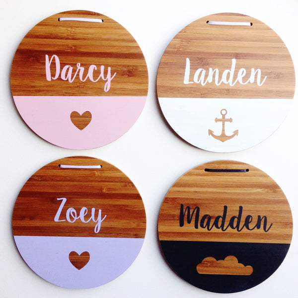 Name Plaque Design Options | Girls and Boys