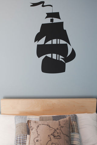Pirate Ship Nautical Themed Wall Decal Kids Room Decor