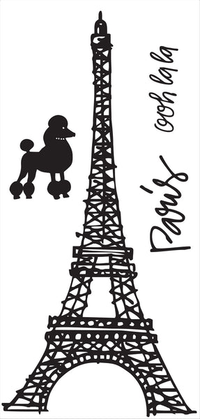 Eiffel Tower, poodle, Paris, ooh la la Wall Decals, home decor